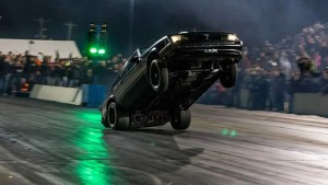 Doing a big wheelie at 2015 King Of The Streets